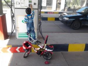 اگه دوچرخه ها رو توی پمپ بنزین دیدید تعجب نکنید