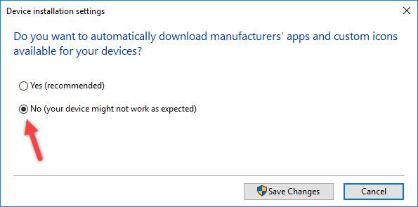 جلوگیری از نصب درایور ناخواسته در ویندوز 10 6