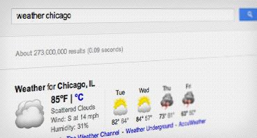 عکس صفحه آب و هوای شیکاگو