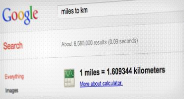 عکس صفحه تبدیل مایل به کیلومتر
