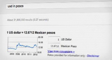 عکس صفحه تبدیل دلار آمریکا به پزو