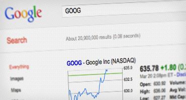 عکس صفحه نرخ سهام GOOG
