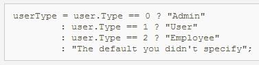 شرط یک خطی در سی شارپ single line IF syntax in c#